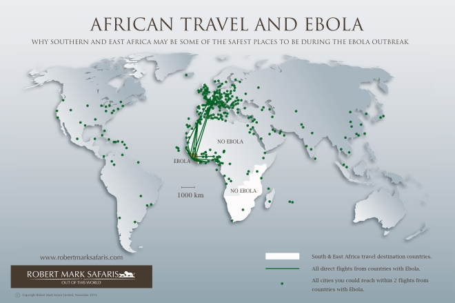 Africa Travel Ebola Map