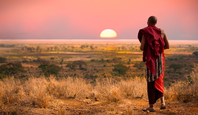 Masai-Warrior-heading-into-the-sunset