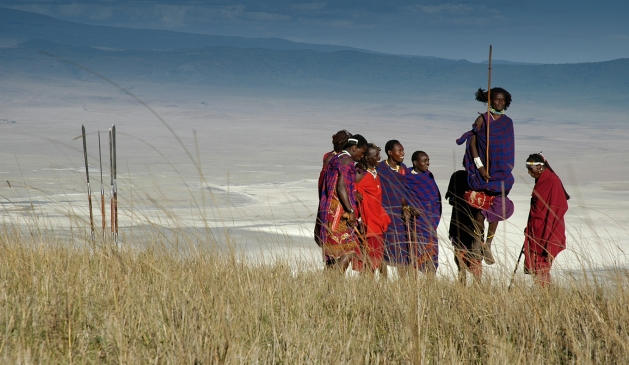 Serena-Jumping-with-the-Maasai,-Ngorongoro.jpg