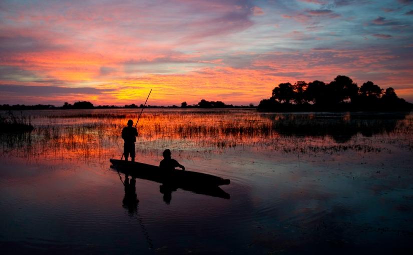 Robert Mark Safaris - Mokoro Canoe Trips in Botswana - Sunset