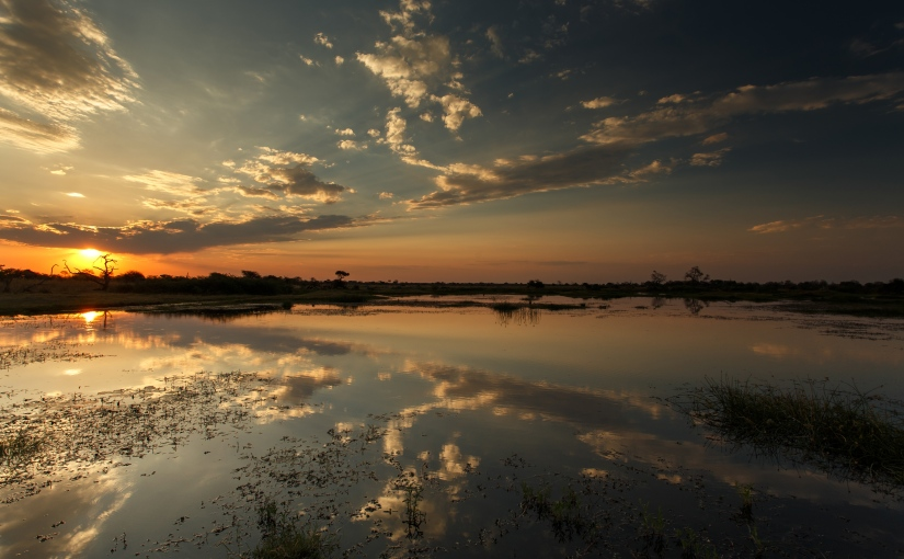 Robert Marks Safaris_Sunset at Moremi Game Reserve