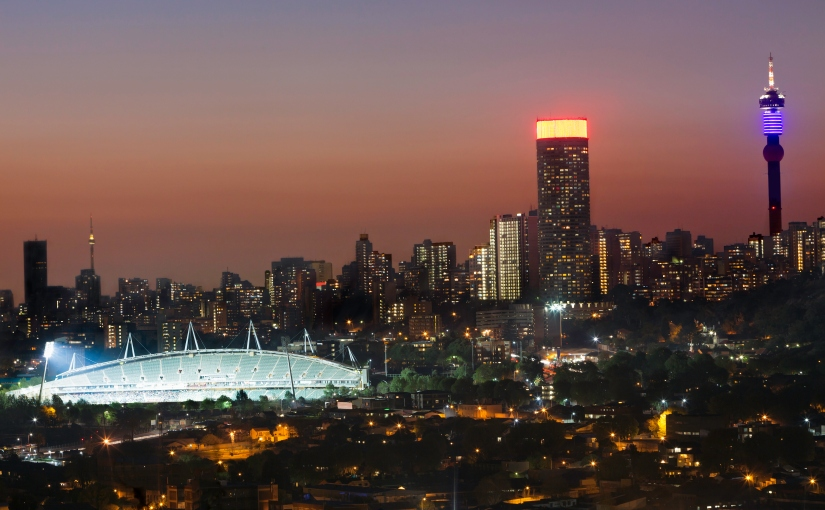 Robert Marks Safaris_Johannesburg City & Stadium at Dusk
